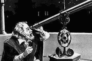 伽利略发明天文望远镜