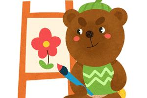 小熊拉拉画大树
