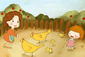 爱吹牛的小公鸡
